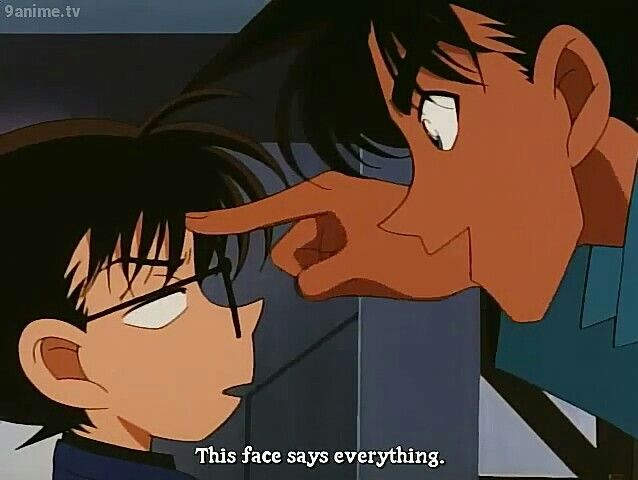 Heiji: This face says everything.
