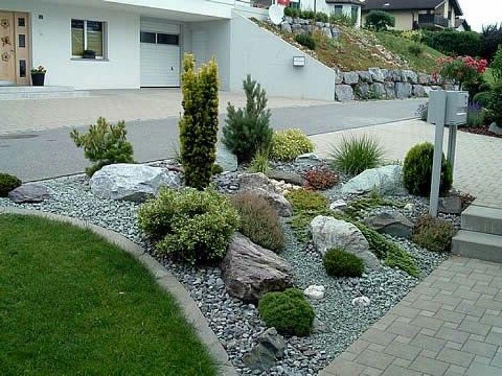 Vysledek Obrazku Pro Steingarten Hanglage Anlegen Haus