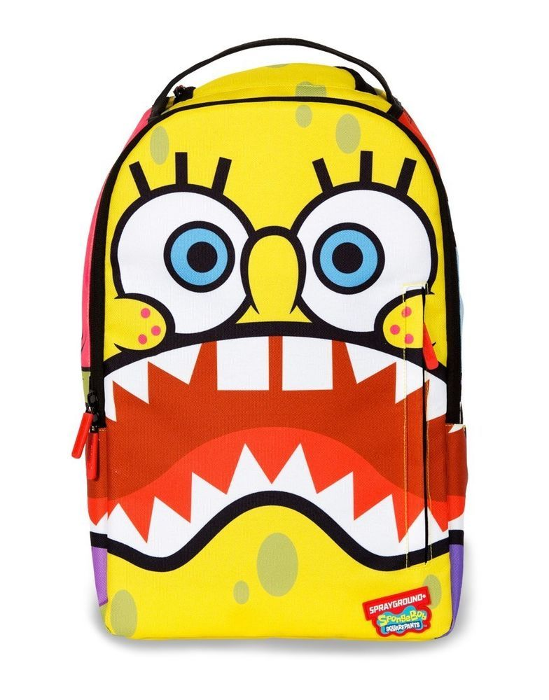 Sprayground spongebob sharkpants squarepants big mouth laptop book ...