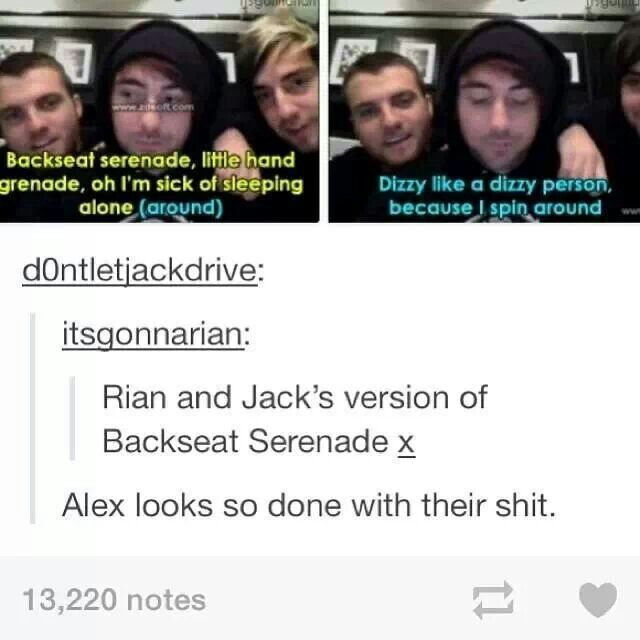 And there's Jack and Rian being a sweetheart :)