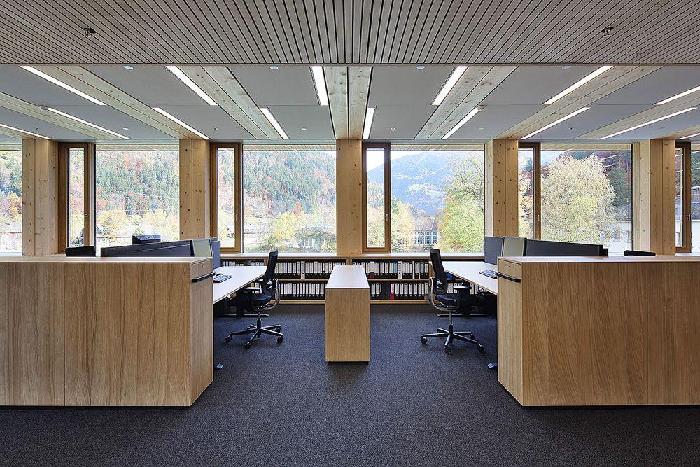 grossraumbüro einrichtung | holz-hybrid-bausystem: illwerke, Möbel