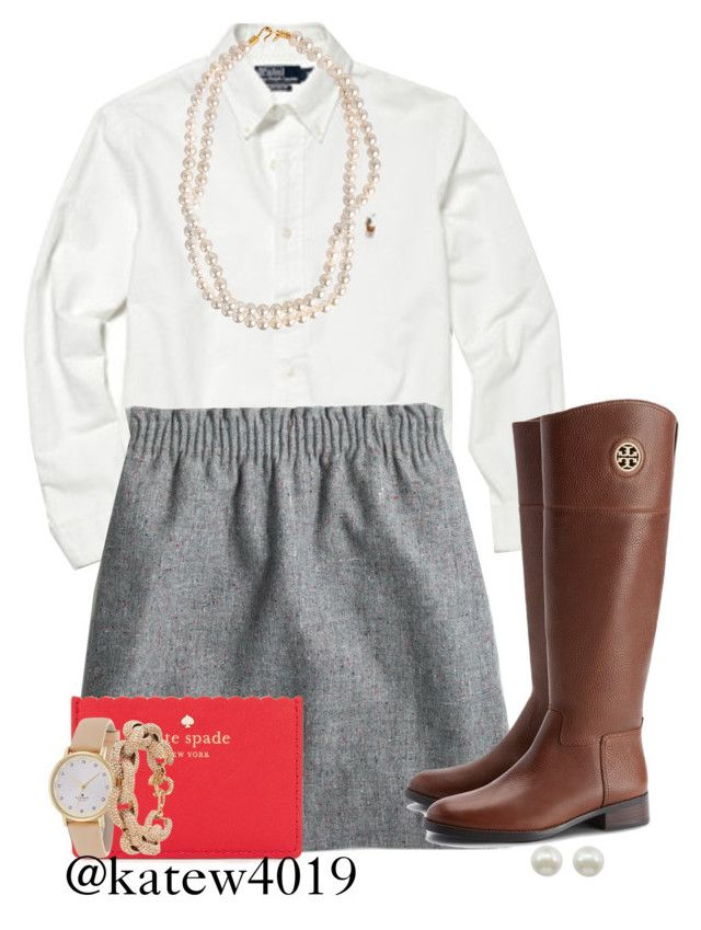 """""""Every day should feel this good//Kate"""" by preppy-southern-gals ❤ liked on Polyvore featuring Polo Ralph Lauren, J.Crew, Tory Burch, STELLA McCARTNEY, Majorica and Kate Spade"""