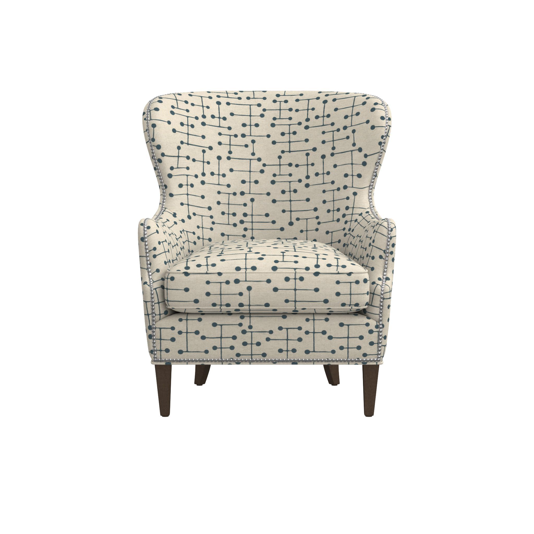 Brielle Nailhead Wingback Chair  sc 1 st  Pinterest & Brielle Nailhead Wingback Chair | Wingback chairs Brown finish and ...