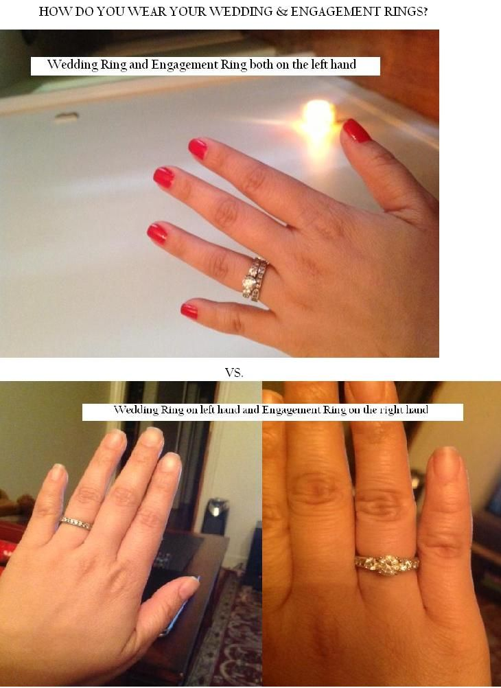 When You Get Married Can Wear Both Your Engagement And Wedding Rings On Left