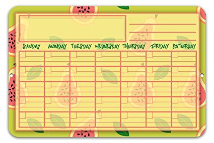 Guava Fruit Wall Calendar Planning Board - Reusable Easy Clean ...