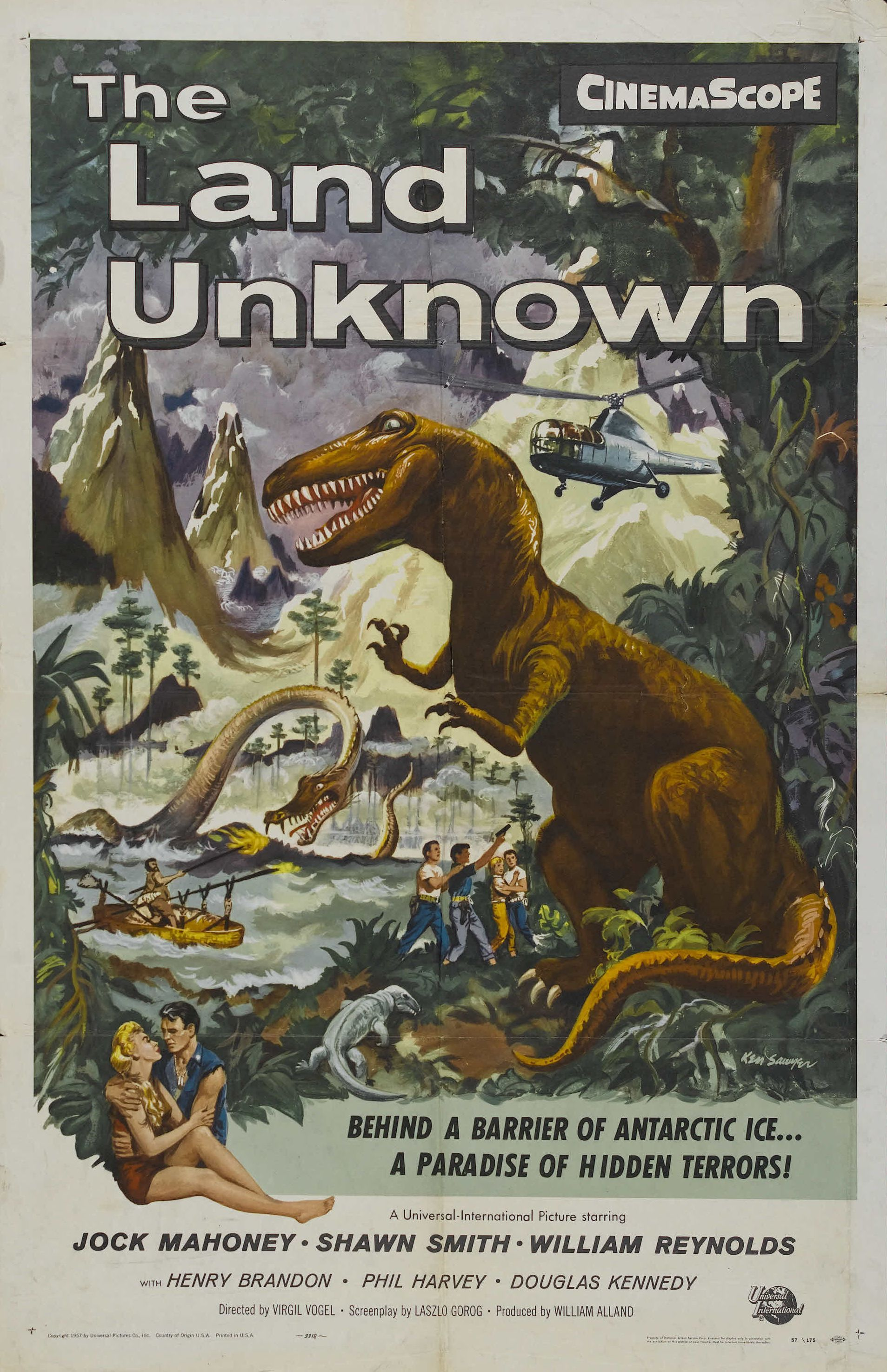 The Land Unknown (1957) Horror movie posters, Movie posters