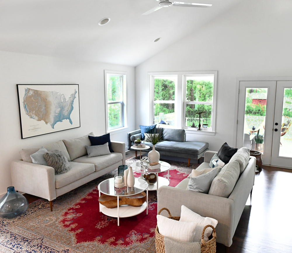 Modern Colorful Beach House Wilmington Nc Beach Interior Design Home Interior Design Cabinetry Design