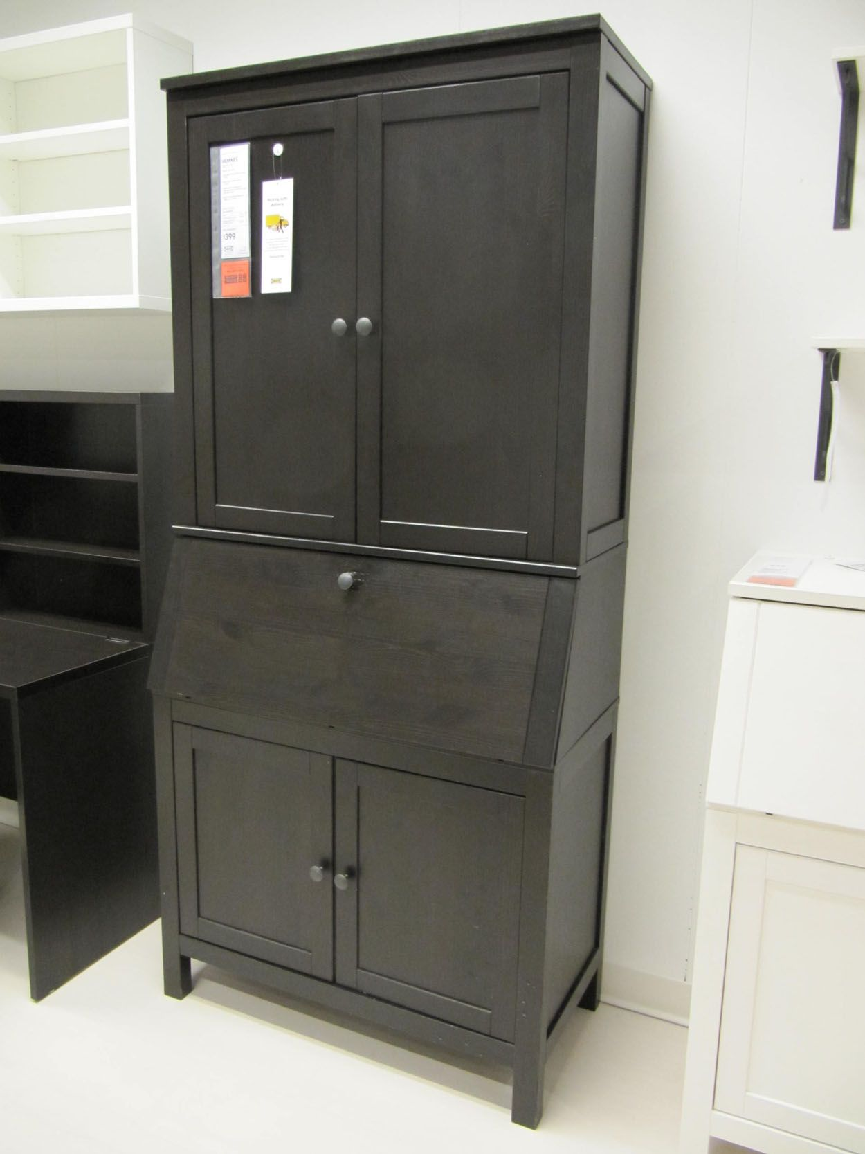 Ikea Hemnes Secretary all of my crafting and sewing things in one hidden place Love it! IKEA