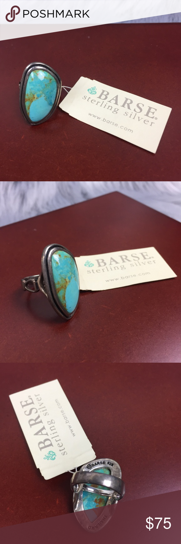 66a51063552b7 Barse Genuine Turquoise Sterling Silver 925 Ring NEW WITH TAG! Barse ...