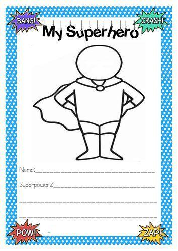 Superhero Activities | Writing #superherocrafts