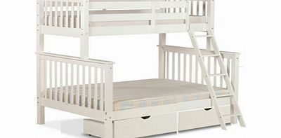 Amani Chiltern 3 Sleeper Wooden Bunk Bed 3 Sleeper With 3ft Bed On