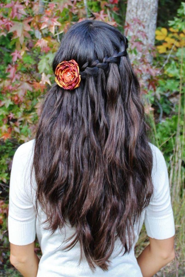 Dirndl Frisur Oktoberfest Offene Haare Hinterkopf Festgesteckt Frisur