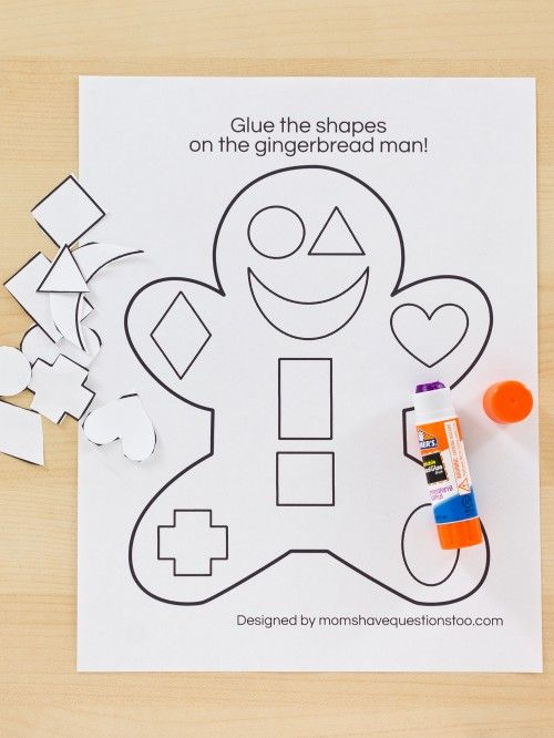 Gingerbread Cut and Paste Activity Moms Have Questions Too – Cut and Paste Worksheets for Preschoolers