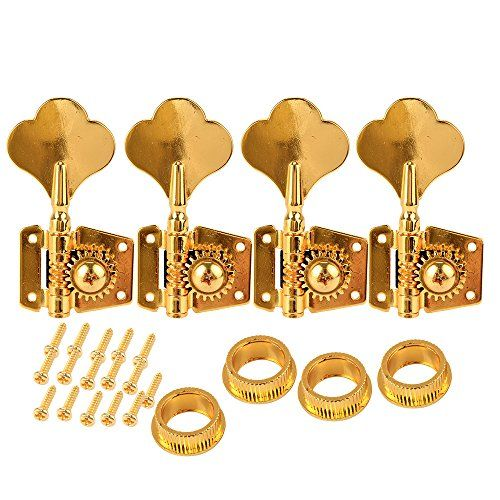 Beyond Electric Bass Guitar Tuners Machine Heads Tuning Pegs Large Knobs 4R Gold