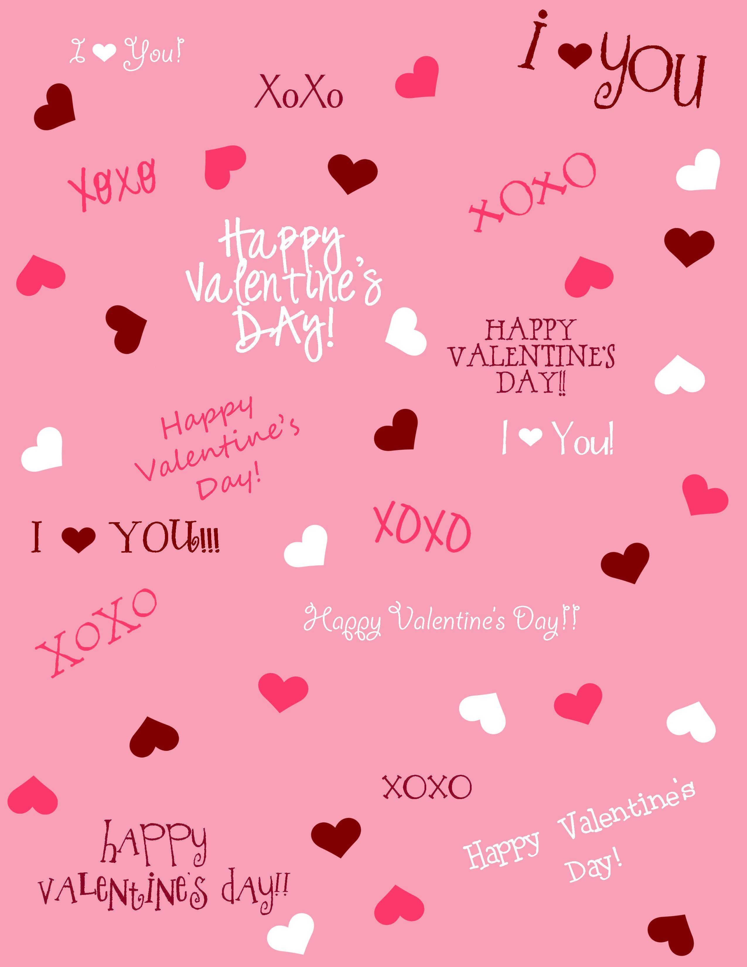 Scrapbook paper designs - Valentines Day