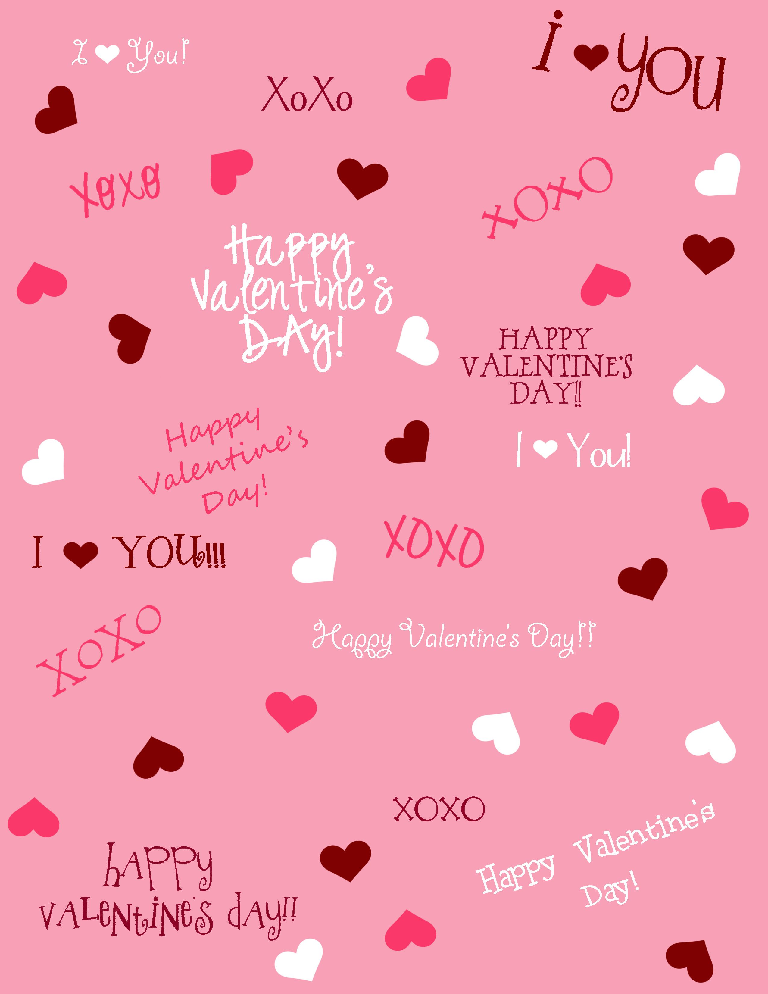 Free Printable Valentine\'s Day Scrapbook Paper | Fondos | Pinterest