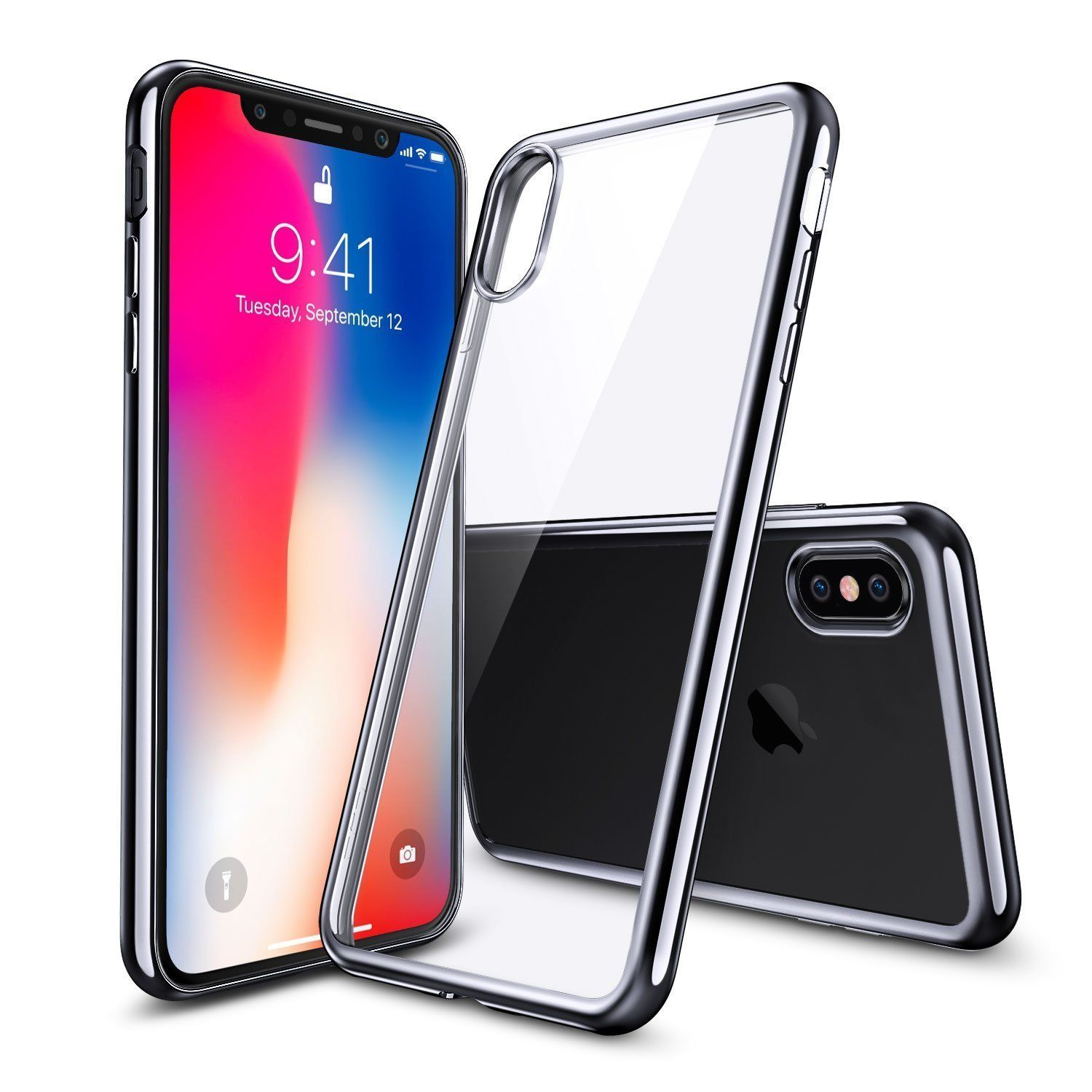 Iphone X Case Clear Thin Crystal Soft Tpu Slim Plating Silicone Spigen Liquid Protective Back