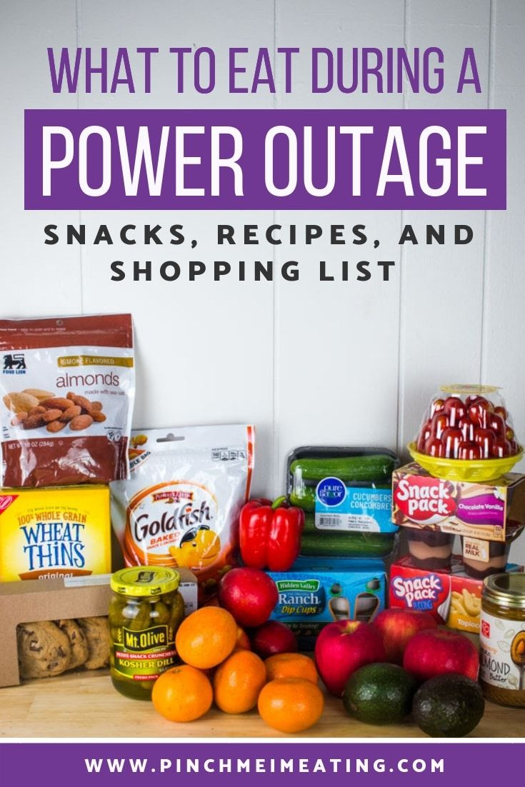 Hurricane Food for a Power Outage | Pinch me, I'm eating! #hurricanefoodideas
