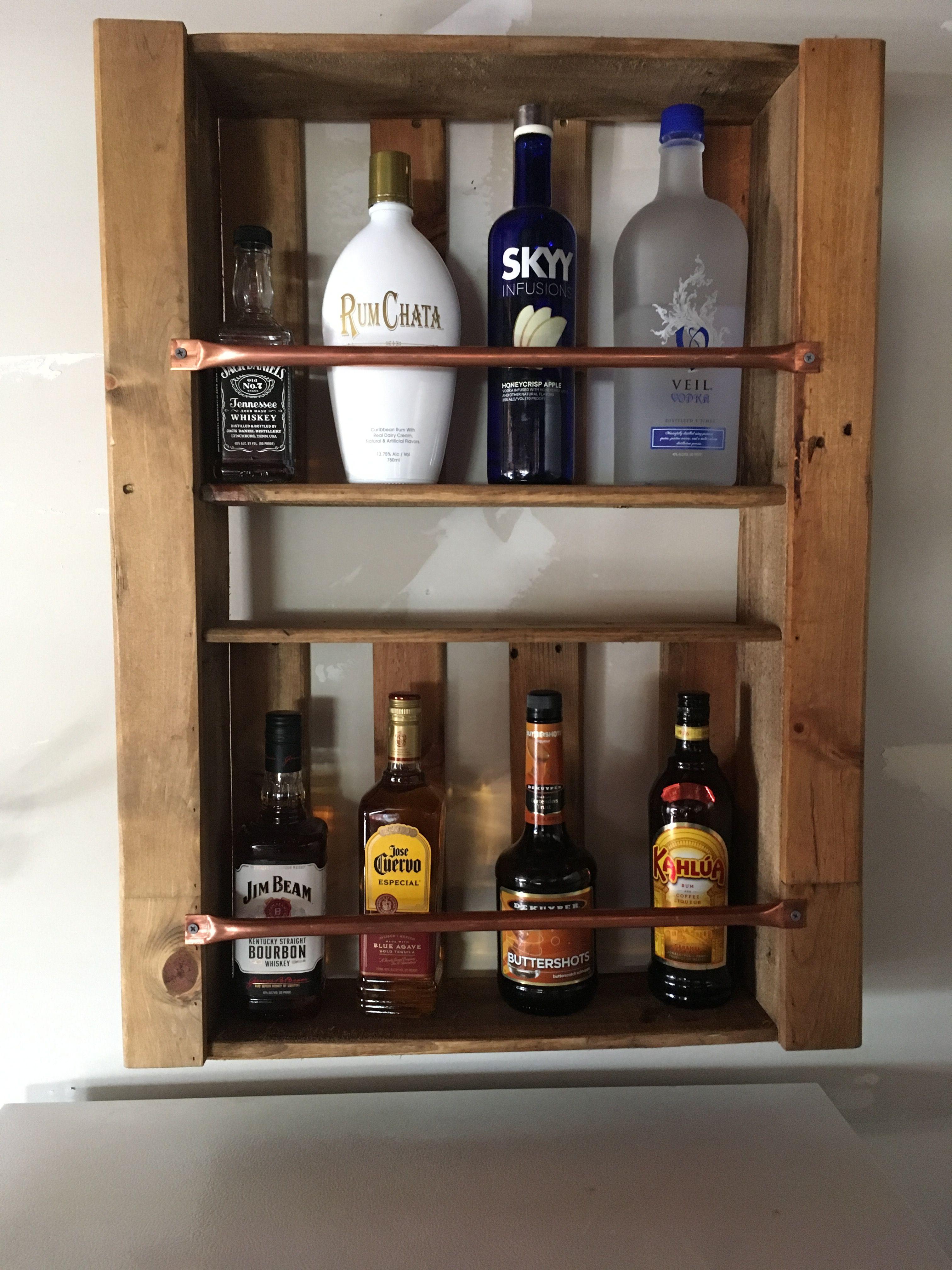 Pallet Liquor Cabinet Pallet Home Decor Home Bar Designs