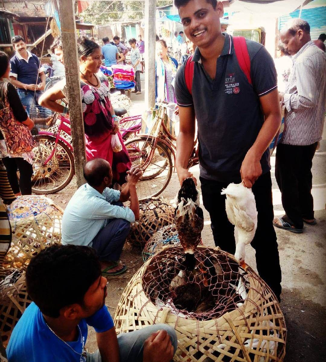 Purchasing Duck From Bagdogra Market, Siliguri, Darjeeling For BBQ & Grilling-Travellershelp