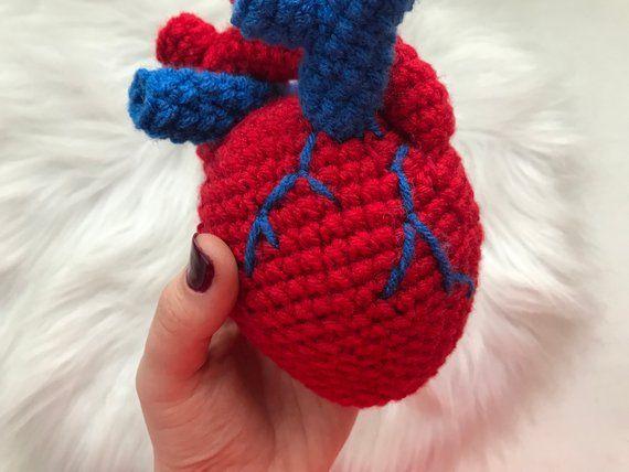 Halloween realistic stuffed anatomical human heart toy ...