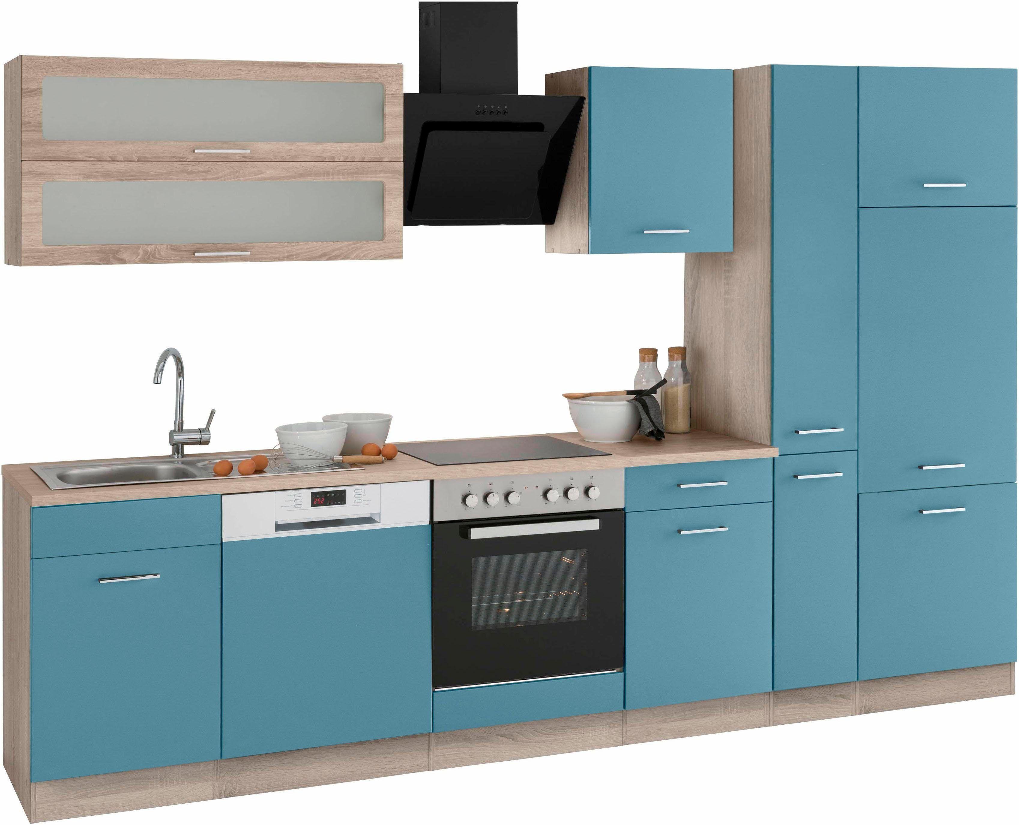 Held Küchenzeile ~ Küchenzeile mit e geräten blau mit aufbauservice »utah« held