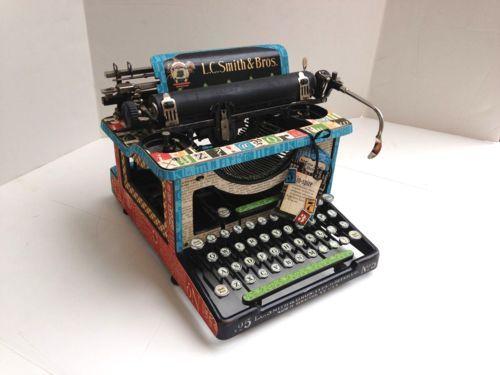 altered typewriter art - Google Search