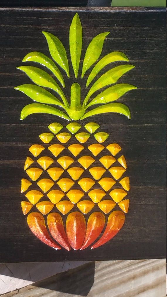 Aloha Hawaiian Decor Beach Wedding Welcome Wooden Pineapple Wall Art ...