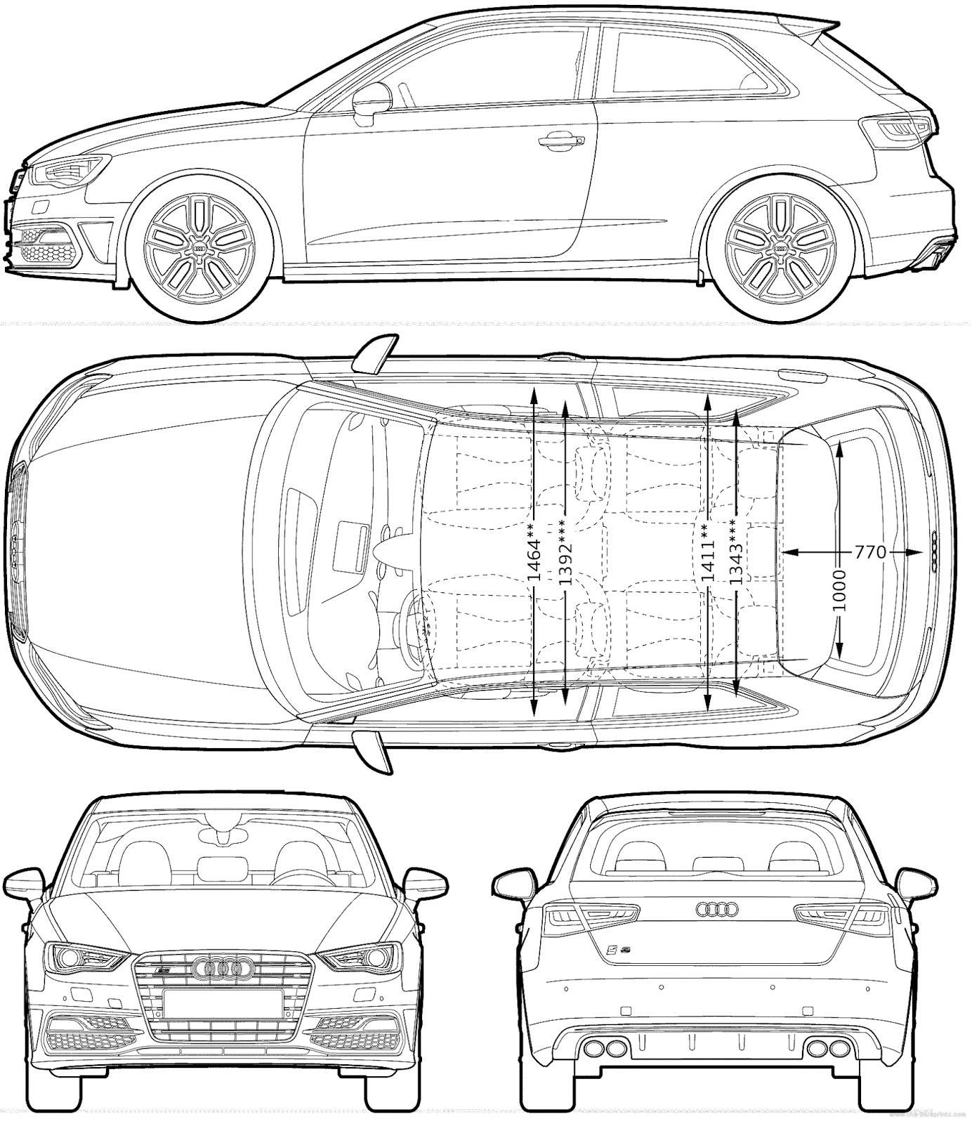 Audi S3 Blueprints Pinterest Audi Audi A3 And Cars