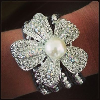 """""""It's a Wrap"""" bracelet with """"Prissy"""" pin http://stephanieball.mypremierdesigns.com access code BLING"""