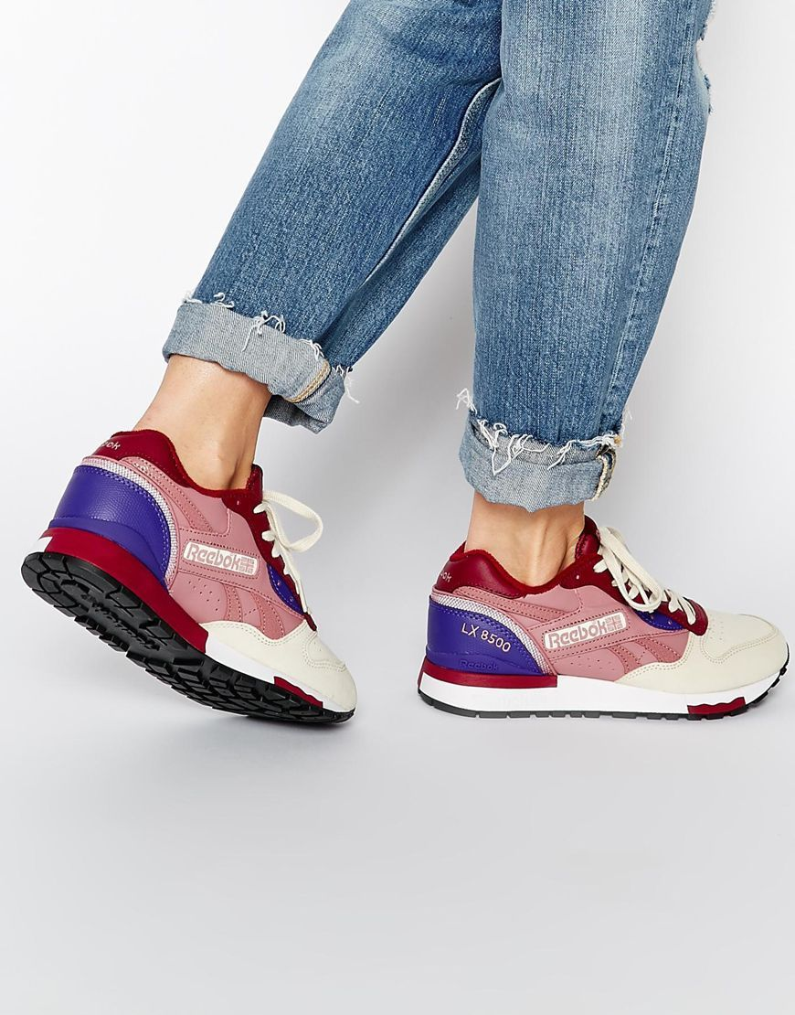 ccd98393ed2 Reebok LX8500 Collective Wine Trainers