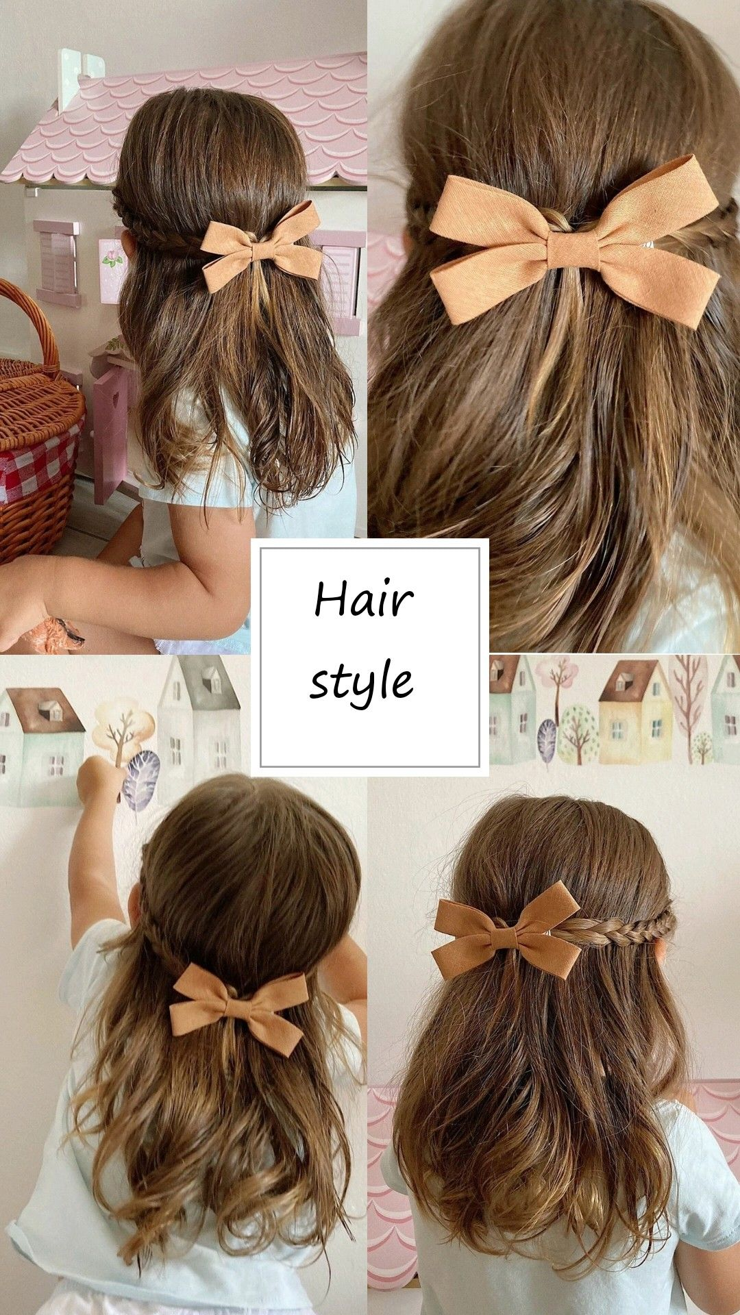 Baby Hair Clip Summer Hair Bows Toddler Hair Clip Girl Hair Clip Birthday Gift For Girls Boho Bows Pigtail Bows Boho Bows In 2021 Girl Hair Dos Flower Girl Hairstyles Baby