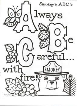 smokey the bear coloring pages # 7