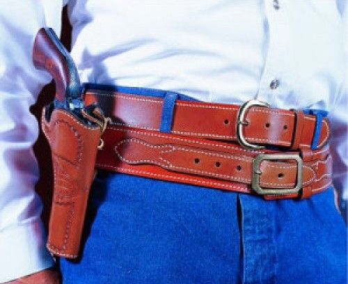 """Desantis 083 DOC Holiday Cross Draw Holster Right Hand Black SAA 3 1/2"""" Lined 083BC53Z0"""