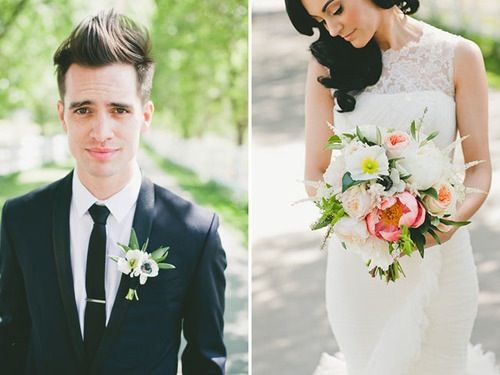 Brendon Urie S Wedding They Re Perfect Malibu Wedding Brendon Urie Wedding Brendon Urie