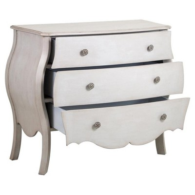 Donahue Weathered French Drawer Chest White Pulaski Accent