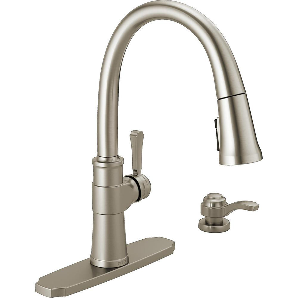 Delta Spargo Single Handle Pull Down Sprayer Kitchen Faucet With