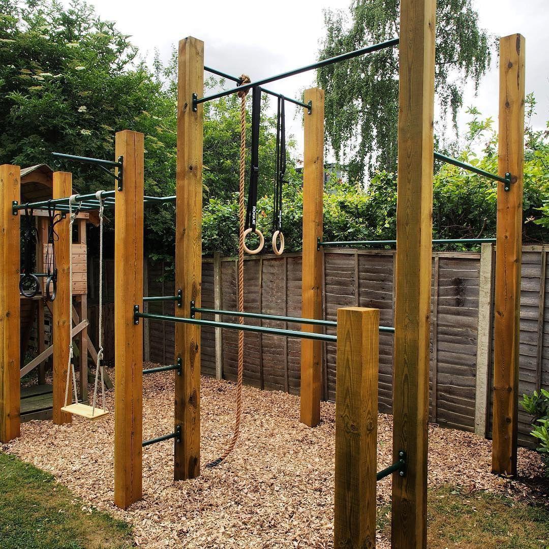 Shade Garden Design Variation On Our Olympian Outdoorgym Calisthenics Gym Garden Gardengym Olympicrings Fi Backyard Jungle Gym Outdoor Gym Backyard Gym
