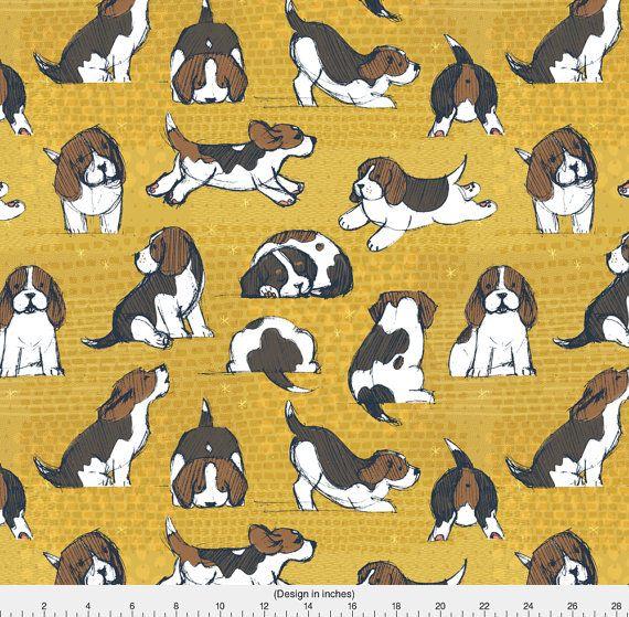 Beagle Fabric Beagle Puppies By Friztin Beagle Dog Novelty Pet