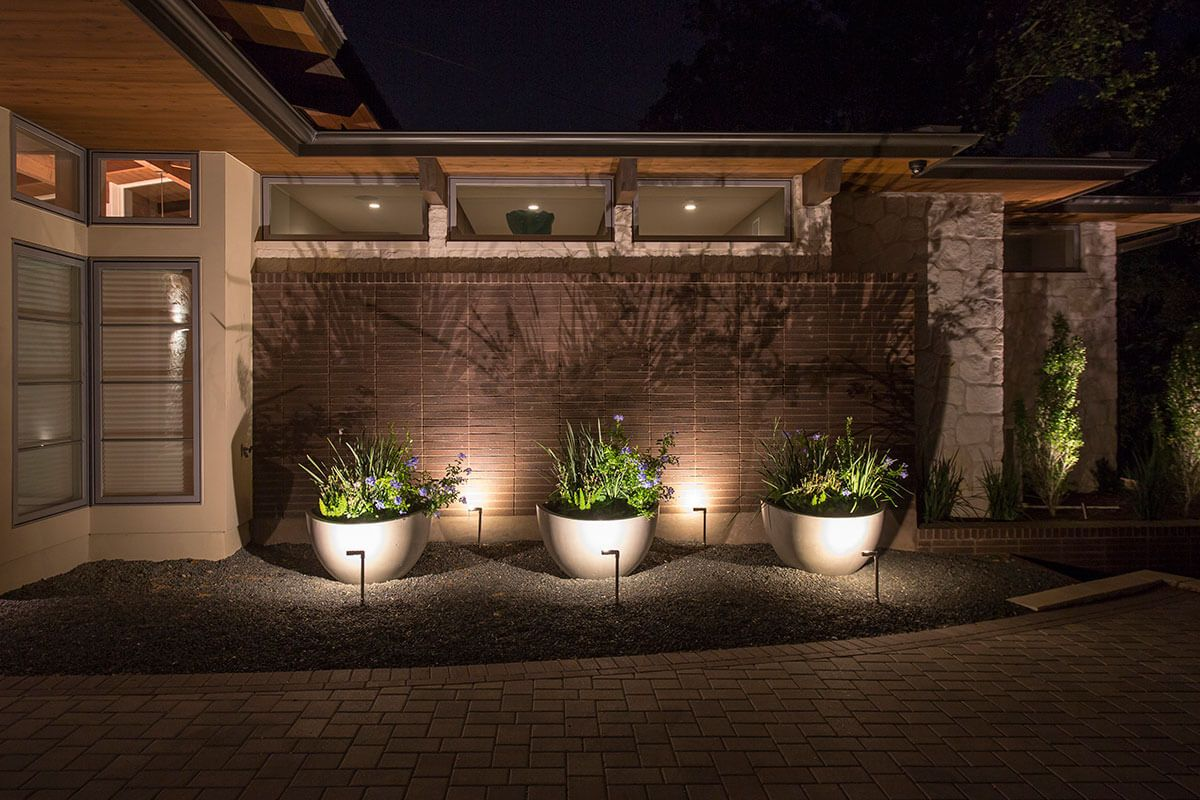 Outdoor Lighting Solutions For A Lake Austin Mid Century