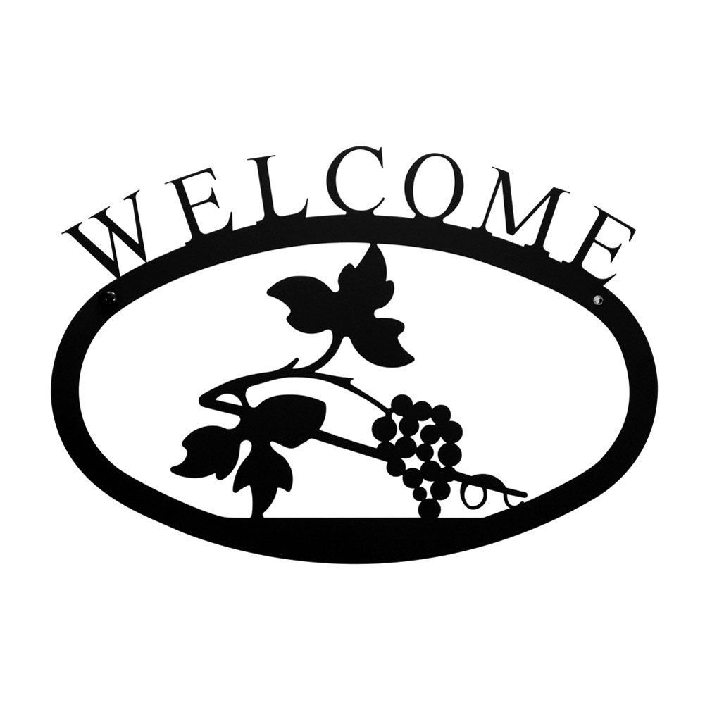 Iron Small Grapevine Home Address Welcome Sign Small - Heavy Duty ...