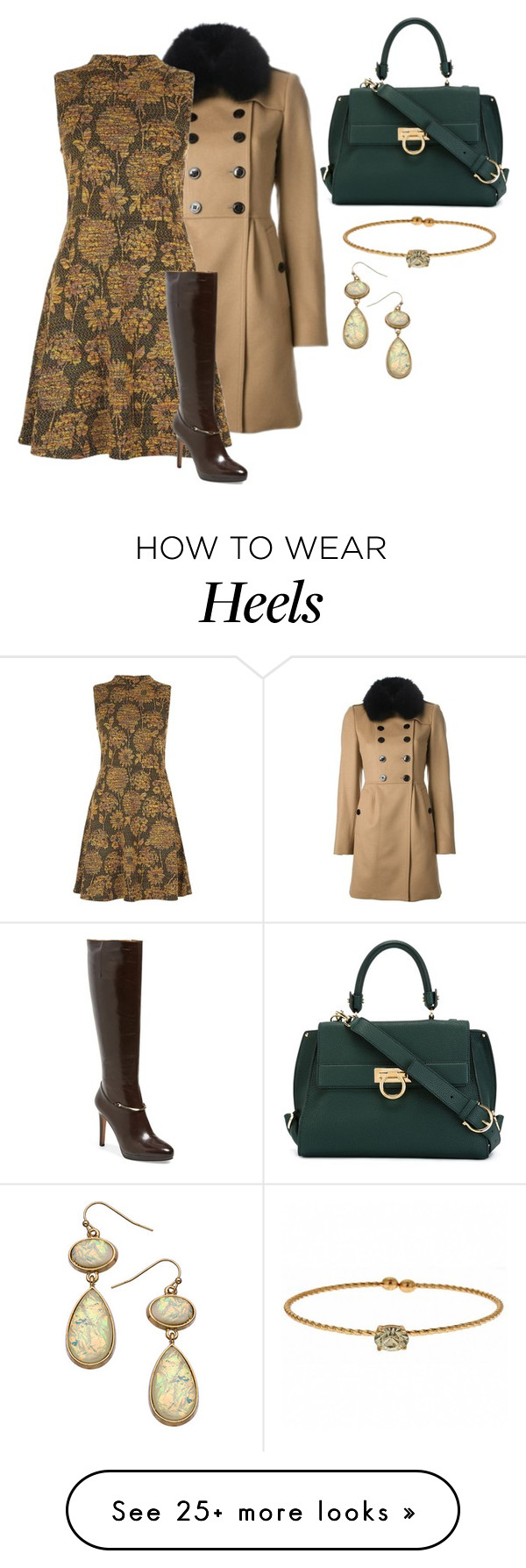 """cashmere carpets"" by shoesclothesbagsaddict on Polyvore featuring Burberry, Nine West, Salvatore Ferragamo, Blu Bijoux and Fornash"