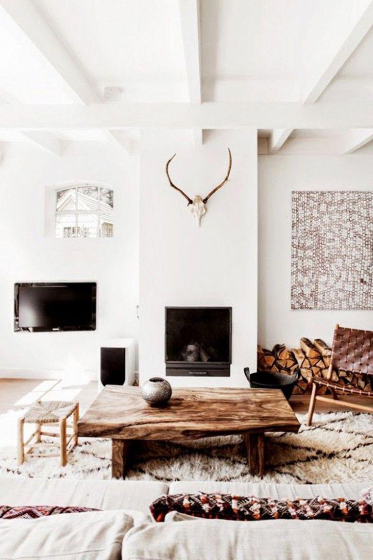 Interior Design Inspiration Rustic Chic Living Room Scandinavian Minimalist Living Room Living Decor #rustic #chic #decor #living #room