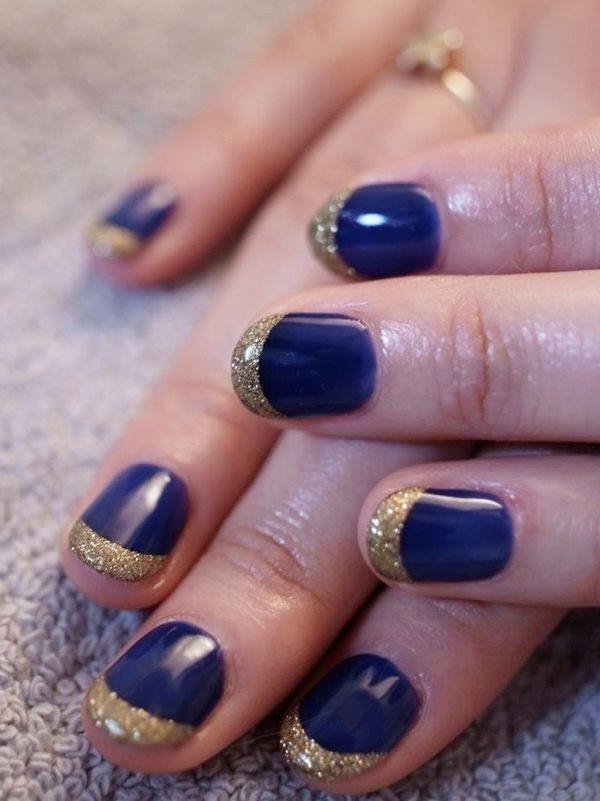Blue nail art – 30 Ideas of manicure   Nail art - nails - diy   niña ...