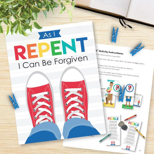 Repentance - Awesome lesson for Primary or Family Home Evening! Love ...
