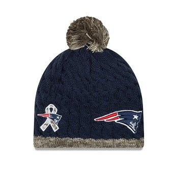a7501880a4d680 Ladies New Era 2015 Salute to Service Knit Hat-Navy/Camo   Go Pats ...