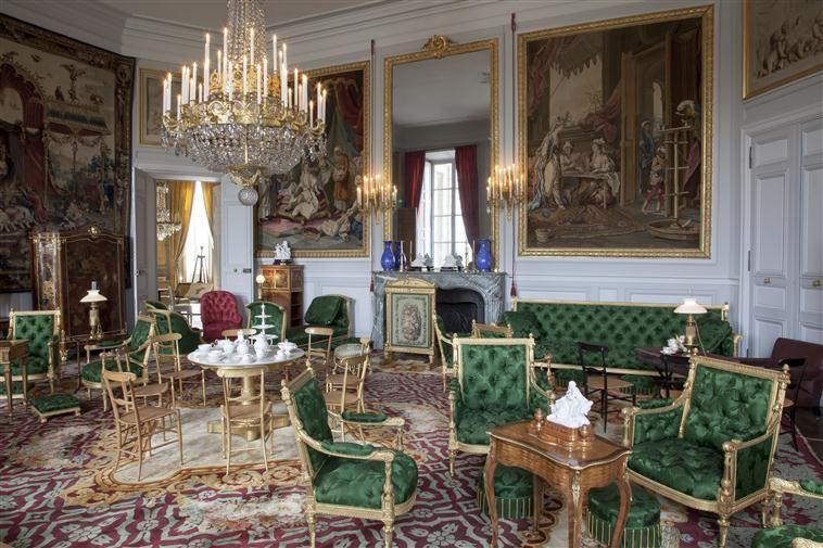 the chateau de compiegne interior palais de compi gne salon de th de l 39 imp ratrice tat. Black Bedroom Furniture Sets. Home Design Ideas