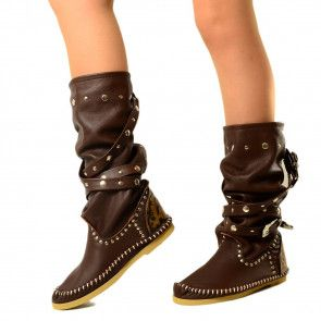 Indiani da Donna Stivali IBIZA ankle boots made in italy
