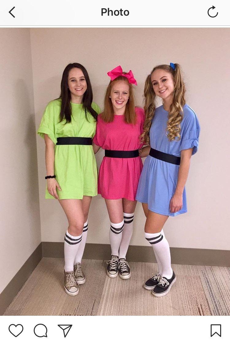 Diy Powerpuff Girls Costumes Halloween Pinterest Halloween