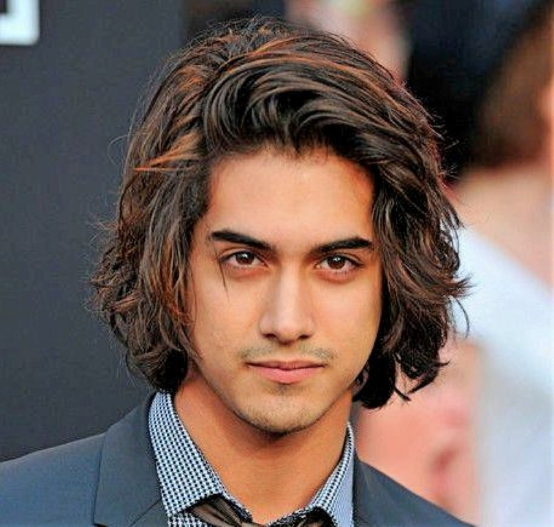 mens long hairstyles thick straight hair (With images ...